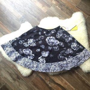 Black and white flower skirt
